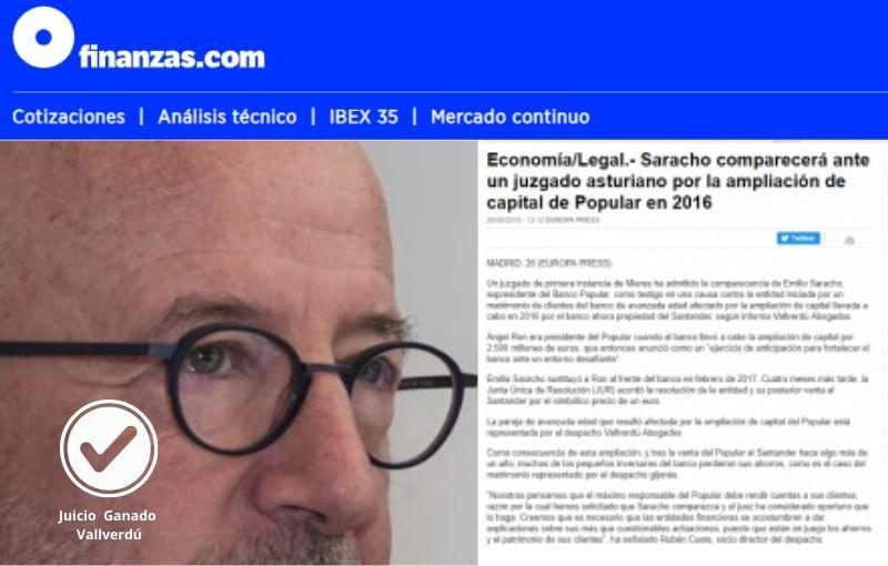Saracho comparecerá ante un tribunal de Oviedo